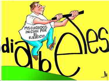 caricatura-de-ejercicio-y-diabetes